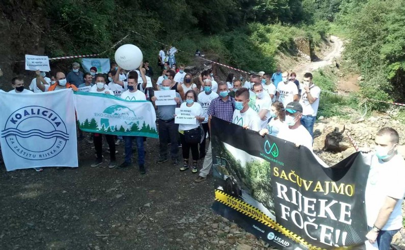 Održan protest protiv gradnje malih HE na Bjelavi