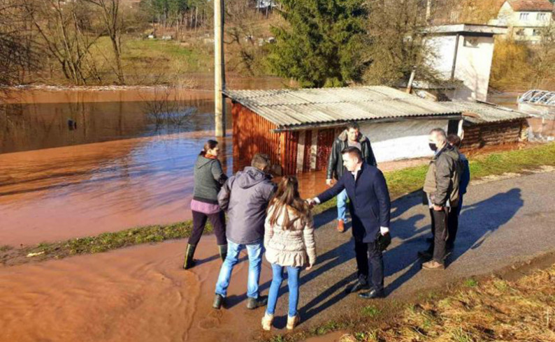 Načelnik Vukadinović obišao poplavljeno područje
