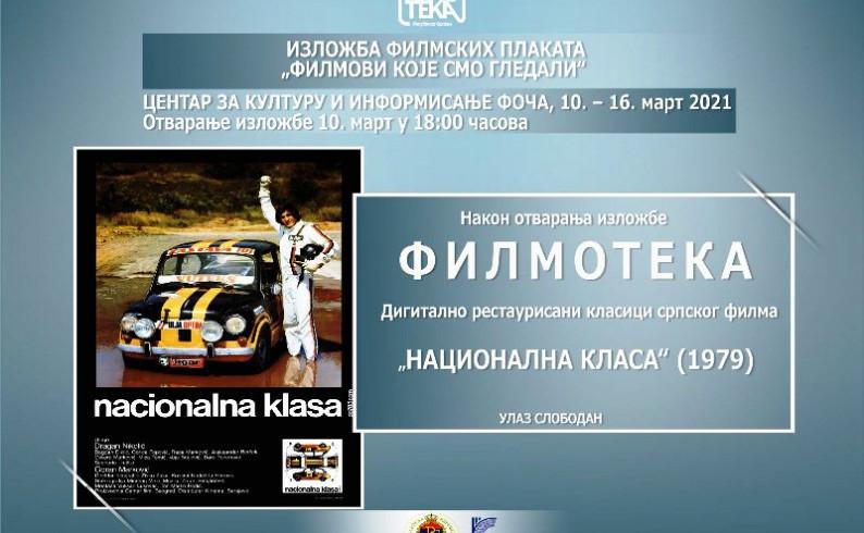 Izložba filmskih plakata pred fočanskom publikom