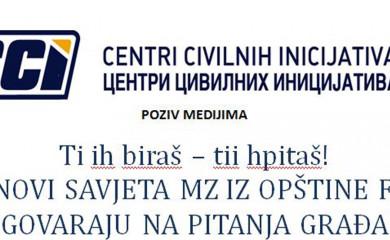 Članovi savjeta MZ iz opštine Foča odgovaraju na pitanja građana